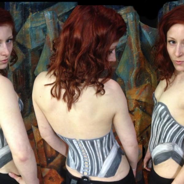 Body Painting - BW Clothing Corset - Baneology